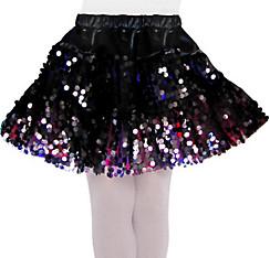 Girls Black Sequin Skirt