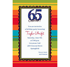 A Year to Celebrate 65 Custom Invitation