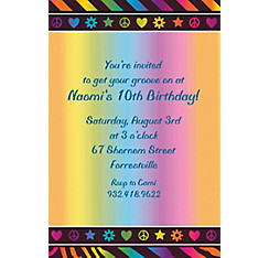 Neon Birthday Girl Custom Invitation