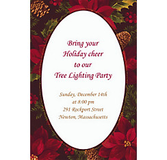 Holiday Enchantment Custom Christmas Invitation