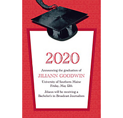 Custom Red Congrats Grad Announcements