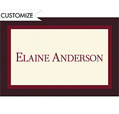 Burgundy Austere Border Custom Graduation Thank You Notes