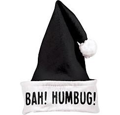 Bah Humbug Black Santa Hat