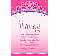 Princess for a Day Custom Invitation