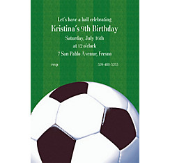 Soccer Fan Custom Invitation
