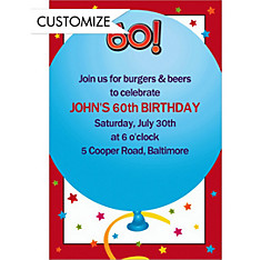 Life is Great 60 Custom Invitation