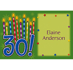 Great Birthday 30 Custom Thank You Note