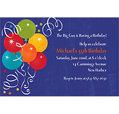 Birthday Fever Custom Invitation