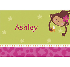 Monkey Love Custom Thank You Note