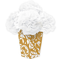 Gold Fluffy Flower Centerpiece Kit 6pc