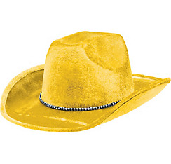Yellow Suede Cowboy Hat