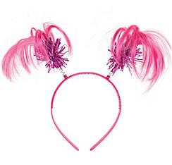 Pink Ponytail Head Bopper