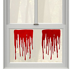 Dripping Blood Gel Cling Decals 2ct