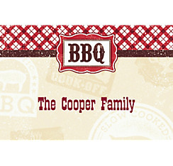 It's BBQ Time Custom Thank You Note