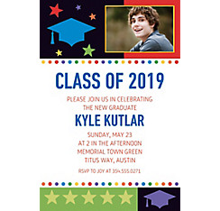Bright Grad Custom Photo Invitation