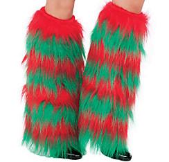 Fuzzy Elf Leg Warmers