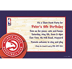 Atlanta Hawks Custom Invitation