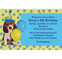 Party Pups Custom Invitation