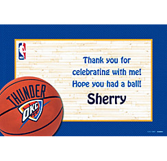 Oklahoma City Thunder Custom Thank You Note