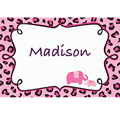 Pink Safari Custom Thank You Note