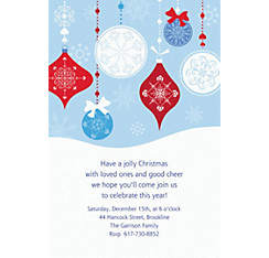 Novel Ornaments Custom Christmas Invitation