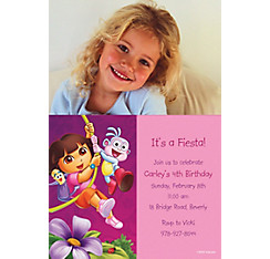 Dora Flower Fun Custom Photo Invitation