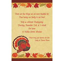 Thanksgiving Holiday Custom Invitation