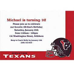 Houston Texans Custom Invitation
