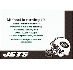 New York Jets Custom Invitation