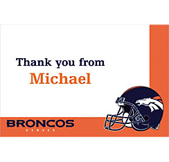 Denver Broncos Custom Thank You Note
