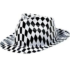 Black & White Checkered Fedora