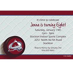 Colorado Avalanche Custom Invitation