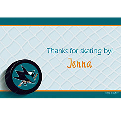 San Jose Sharks Custom Thank You Note