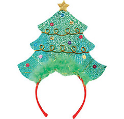 Glitter Christmas Tree Headband