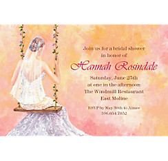Bridal Swing Custom Bridal Shower Invitation