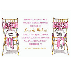 Mr. And Mrs. Right Custom Bridal Shower Invitation
