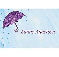Filigree Umbrella Custom Bridal Shower Thank You Note