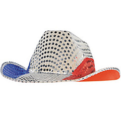 Sequin Patriotic Cowboy Hat
