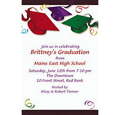Custom School's Out Graduation Invitations