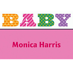 Big Baby Girl Custom Thank You Note