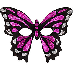 Iridescent Pink Butterfly Mask