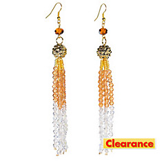 Roaring '20s Crystal Tassel Earrings