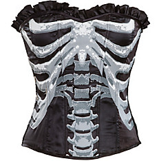 Adult Black and Bone Corset - Skeleton
