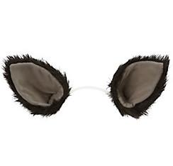 Oversized Black Cat Ears Deluxe