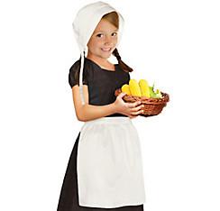 Child Pilgrim Bonnet & Apron Set