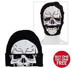Skull Roll-Down Mask Beanie