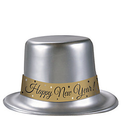 Classic Silver New Year's Top Hat