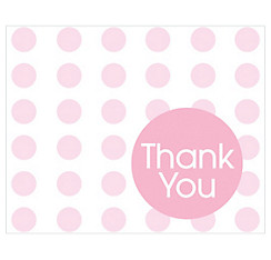 Pink Polka Dot Thank You Notes 8ct