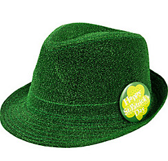 St. Patrick's Day Green Shimmer Fedora