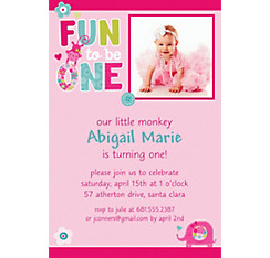 One Wild Girl Custom Photo Invitation